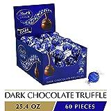 Lindt LINDOR Dark Chocolate Truffles, 25.4 oz, 60 Count