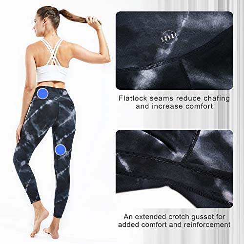 Souke Sports Women's High Waisted Yoga Pants,Tummy Control Workout Running Yoga Leggings with Pockets 5