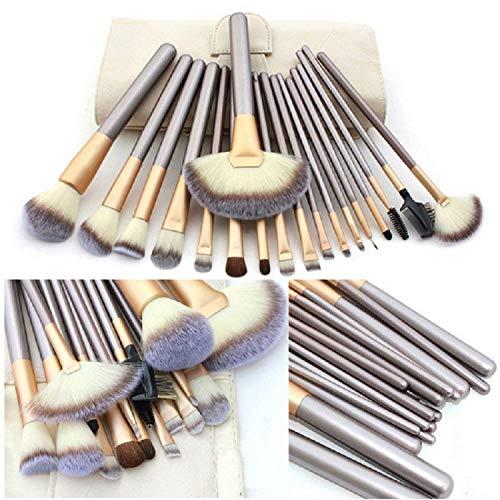 VANDER Makeup Brushes, 18PCS Professional Beauty Premium Synthetic Foundation Powder Makeup Brushes Sets, Champagne