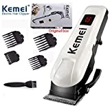 Men's Low Voice Rechargeable Hair Clipper Razor LCD Display Cordless Electric Professional Shaver Beard Trimmer Grooming Shaving Machine Self Hair Cutting Haircut Trimmer Cutter
