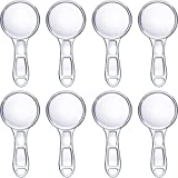 Jovitec 8 Pieces Page Magnifiers 6X Magnification Handheld Magnifying Glasses Plastic Portable Reading Magnifiers for Senior and Kids