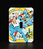 DC Superman Comic Book Switch Plate Wallplate Light Cover