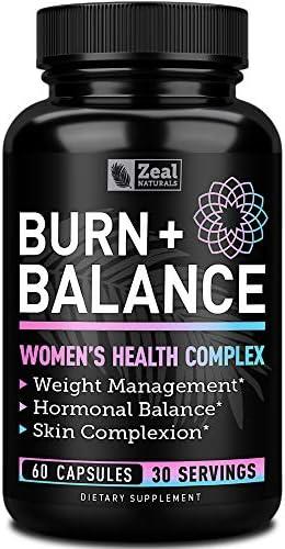 Weight Loss Pills for Women + Daily Balance Vitamins (Iron, Vitamin D, Setria®, Folate,+) Premium Diet Pills for Women + Womens Multivitamin with Iron, D & B Vitamins & Hormone Balance for Women 3
