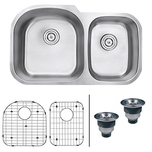 Best kitchen sink reviews top picks and ultimate buying guide 2018 ruvati 34 inch undermount 6040 double bowl 16 gauge stainless steel kitchen sink workwithnaturefo