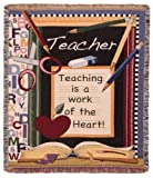 Teacher Classroom 'Work of the Heart' Decorative Afghan Throw Blanket 50' x 60' SKU TPM951