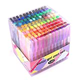 Gel Pens for Adult Coloring innhom 120 Colors Gel Pen Set for Adult Coloring Books Crafting Doodling Scrapbooking Drawing- Glitter Metallic Pastel Neon Swirl Standard Colors with Case
