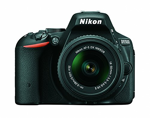 Nikon D5500 DX-format Digital SLR w/ 18-55mm VR II Kit (Black)