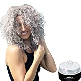 UrbanX Washable Hair Coloring Wax Material Unisex Color Dye Styling Cream Natural Hairstyle Pomade Temporary Party Cosplay Natural Ingredients (White)