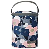JJ Cole - Bottle Cooler, Insulated Interior for 2 Large Bottles or Sippy Cups, Included Freezer Pack, Exterior Pocket, and Easy Attach Handle, Heather Floral