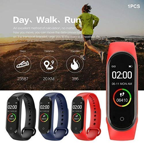 SBA999 ABM403 M4 Bluetooth Wireless Smart Fitness Band for Boys/Men/Kids/Women | Sports Watch Compatible with Xiaomi, Oppo, Vivo Mobile Phone | Heart Rate and BP Monitor, Calories Counter 9