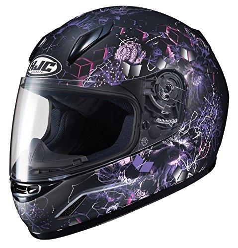 HJC Unisex-Child Full face CL-Y Vela Helmet (Black/Purple, Small)