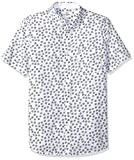 Ben Sherman Men's SS SCATTRD Scratch Shirt, Snow White, XL