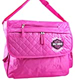 Harley-Davidson Nylon Womens Messenger Bags Hdk84868 Hot Pink Licensed Harley Davidson Messenger Bag Hd 14.5 X 13 X 4.5 Inches Pink