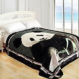 ShiGo Queen Heavy Weight Super Soft Luxury Queen size Blanket 79'X94'-Panda