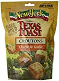 New York Texas Toast Croutons Cheese & Garlic, 5-Ounce Bags (Pack of 12)