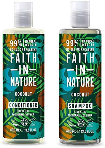 Faith In Nature Grapefruit and Orange Shampoo & Conditioner Duo | Vegan | No Cruelty | 99% Natural Fragrance | No From SLS or Parabens
