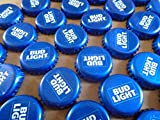 500 ((Bud Light)) Bottle Caps. NO DENTS. Great for Crafts, Table Tops, and Decor