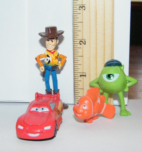 Disney Pixar Figure Cake Toppers / Cupcake Party Favor Decorations ...