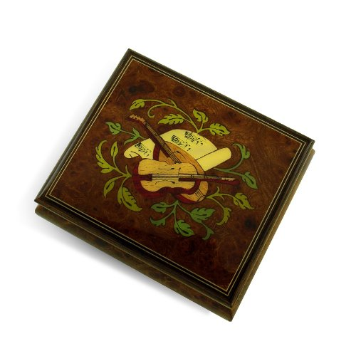 Exquisite Handcrafted Musical Instrument with Sheet Music Wood Inlay Music Box - Take Me Home Country Roads (John Denver)