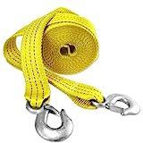 "Presa 21079 Heavy Duty 10000 lb. Tow Strap with Hooks, 2"" x 20', Yellow"