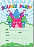Bounce House Birthday Invitations with Envelopes (15 Pack) - Kids Birthday Party Invitations for Boys or Girls