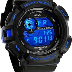 Fanmis Mens Military Multifunction Digital LED Watch Electronic Waterproof Alarm Quartz Sports Watch Blue 21 Fashion Online Shop gifts for her gifts for him womens full figure