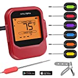 Intelitopia Meat Thermometer for Grilling,Smart Wireless Bluetooth Digital Cooking Grill Meat Thermometer Instant Read with Six Upgraded Stainless Steel Probes for Grilling, Smoker, BBQ and Oven