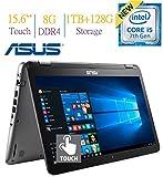 Top Performance ASUS 15.6' 2-in-1 FHD IPS 1080p Touchscreen Laptop | Intel Core i5-7200U | 8GB DDR4 | 1TB HDD 128GB SSD Hybrid | Dedicated Graphics 2GB | Bluetooth | HDMI | 802.11ac | Win10