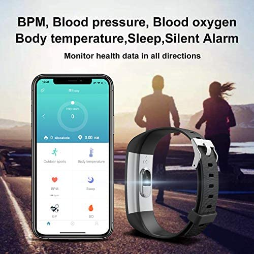 [2020 New Version] Fitness Tracker, Activity Tracker Watch with Heart Rate Monitor, Message Notification,IP68 Waterproof Calorie Counter, Pedometer Watch with Connected GPS for Android & iPhone 2