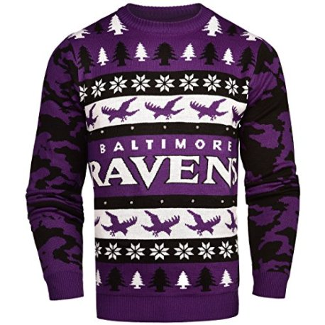 5e88d69a2e5 NFL Baltimore Ravens Light-Up One Too Many Ugly Sweater