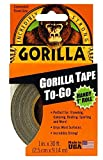 Gorilla Tape to-Go Handy 1' Roll 1 in (Pack of 18)