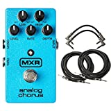 MXR M234 Analog Chorus Pedal Bundle with 2 Patch Cables and 2 Instrument Cables