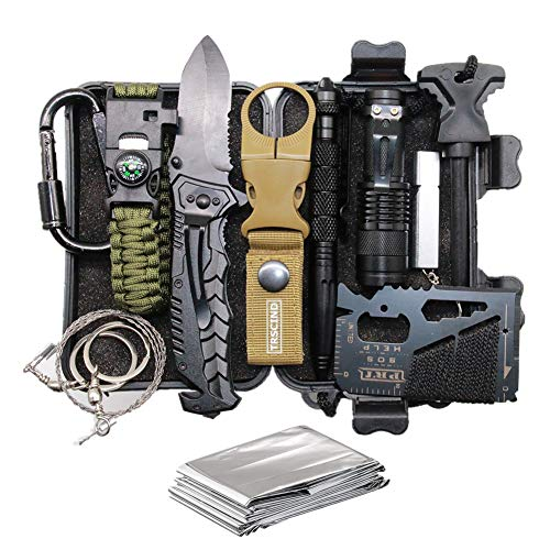 Cool & Unique Birthday Gift for Him Men Husband Dad Boyfriend Boys, Fun Gadget Mens Gifts Ideas, 11-in-1 Survival Gear Kits, EDC Emergency Tools and Everyday Carry Gear, Official Survival Kit