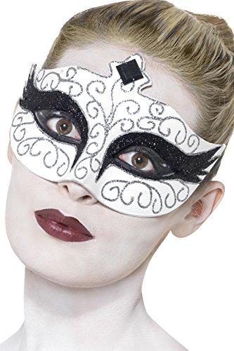 Smiffy's Women's Gothic Swan Eye mask, White, One Size, 27318