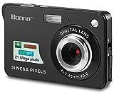 Bonna 21 mega Pixels 2.7' Display HD Digital Camera Digitals - Digital Video Camera - Students Cameras - Kids Camera -for Adult/Seniors/Kids (Black)