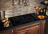 Frigidaire 36 Inch Downdraft Electric, Black Ceramic Glass 4-Burner Flat Range, RC36DE60PB Cooktop,