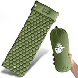 Legit Camping Sleeping Pad Camping Mat Comfortable Sleeping Mat - Rolls Up Tight - Air Support Cells Transform Your Camping Mattress and Camping Pad - Best Outdoor Sleep (Forest Green)