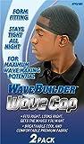 WaveBuilder Wave Cap   Promotes Healthy and Uniform Hair Waves, Black, 2 Count