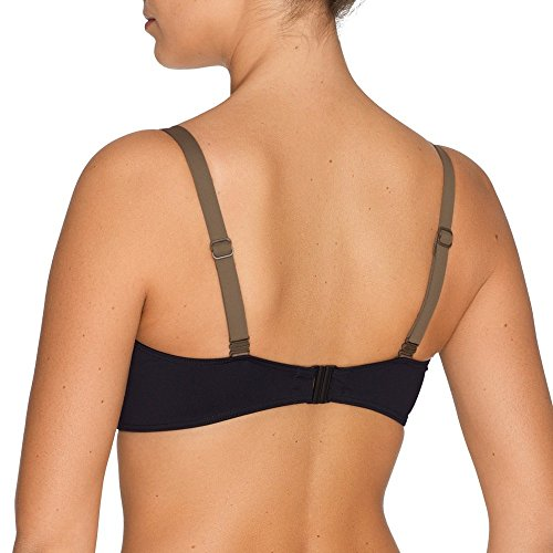 Look retro chic in this bra-sized swim top Non-adjustable, snap back closure Stretch microfiber