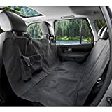 BarksBar Original Pet Seat Cover for Large Cars, Trucks and SUVs - Black, Waterproof & Hammock Convertible (X-Large, Black)