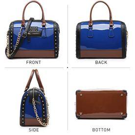 Shiny-Patent-Faux-Leather-Handbags-Barrel-Top-Handle-Satchel-Bag-Shoulder-Bag-for-Women