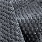 CordaRoy's Chenille Bean Bag Chair, Convertible Chair Folds from Bean Bag to Bed, As Seen on Shark Tank - Charcoal, Queen Size