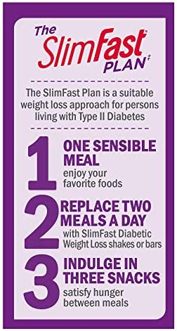 SlimFast Diabetic Weight Loss Snack, Peanut Butter Cup (14 Count of 0.6 Oz Cups Each), 8.4 Oz 5