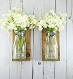 Reclaimed Wood Wall Decor - Dairy Bottle Flower Holder - Milk Bottle Bud Vase - Wall Vase - Farmhouse Home Decor - Bathroom Wall Decor