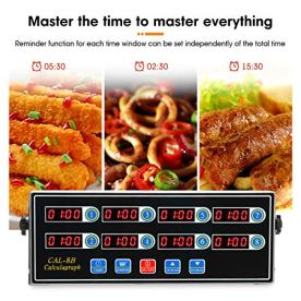 BEAMNOVA-8-Channel-Digital-Kitchen-Timer-Clock-Reminder-Cooking-Commercial-Loud-Ring-Alarm-Stainless-Steel-Timers-Calculagraph