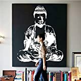 """Yanqiao 26.77x22.05"""" Removable Indian Religious Buddha Vinyl Living Room Wall Sticker Decal"""