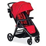 Combi Lightweight Full Sized Travel System Umbrella Stroller - Compact Fold N Go - Red