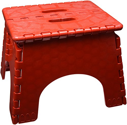 Folding Step Stool - #101-6R - 9 Inches High - 300 Pound Capacity - Red