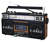 QFX J-22UWD ReRun X Radio and Cassette to MP3 Converter - Wood