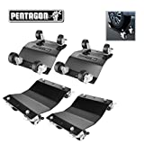 Pentagon Tool 83-DT5499 Commercial Grade 4-Pack Dolly-Tire Skates | 1,500 lbs Rating | Black